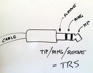 TRS cable connector drawing